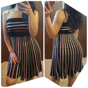 Like new! Bebe Summer Knit strapless dress XS